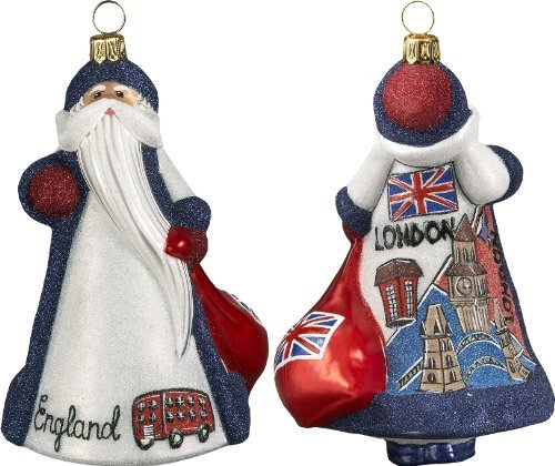 Glitterazzi International Santa Britain Ornament