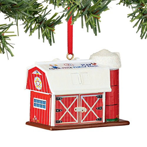 Department 56 Fisher Price Barn Ornament