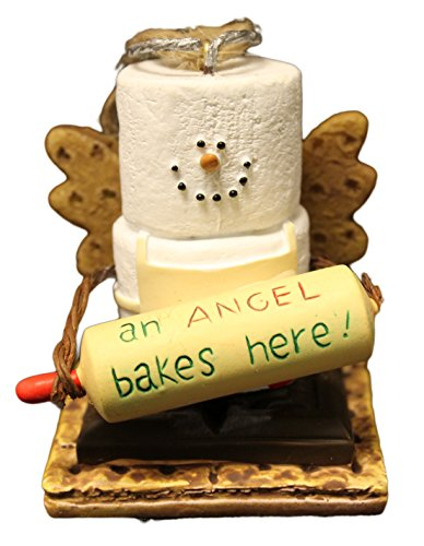 "Christmas Decoration S'Mores Baker ""An Angel Bakes Here"" Christmas Ornament"