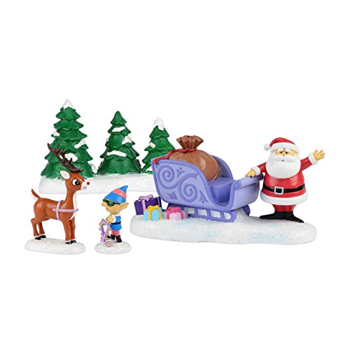 Department 56 Rudolph Rudolph Will Lead Figurine, 3-Inch, Set of 4
