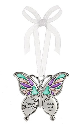 Ganz Butterfly Wishes Colored Ornament – You are Beautiful inside and out