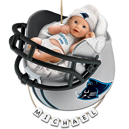 Carolina Panthers Personalized Baby's First Christmas Ornament by The Bradford Exchange