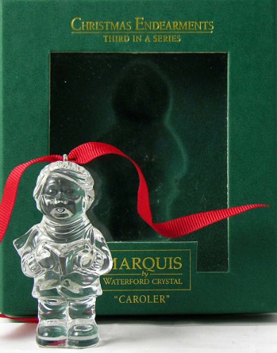 Marquis Waterford Crystal Christmas Endearments Ornament Caroler Third In Series
