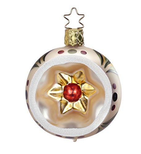 Reflector Ball 6 cm,Vintage, #20004T106, from the 2015 Vintage Christmas Collection by Inge-Glas Manufaktur; Gift Box Included