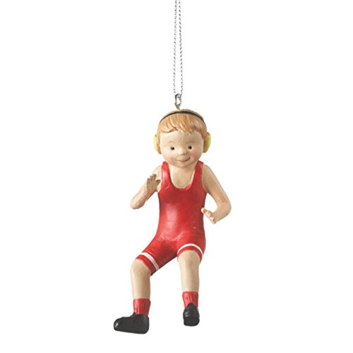 Boy Wrestler Wrestling Ornament