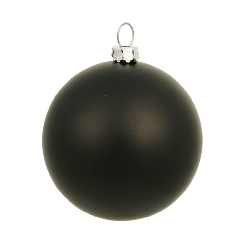 Vickerman 35093 – 6″ Black Matte Ball Christmas Tree Ornament (4 pack) (N591517DMV)
