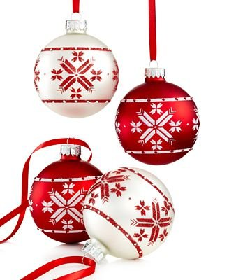 Holiday Lane Set of 4 Nordic Ball Ornaments