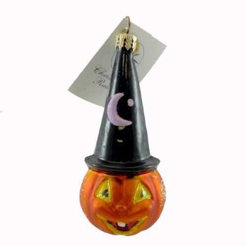 Christopher Radko PATCH MAGIC Glass Ornament Halloween Pumpkin