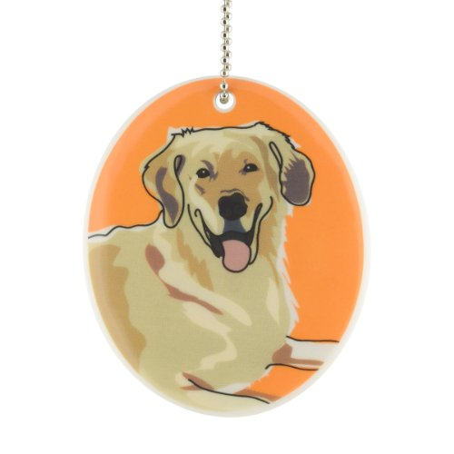 Department 56 Go Dog Golden Retriever Ornament, 3.5-Inch