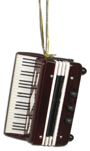 Miniature Accordion Christmas Ornament 2.75″