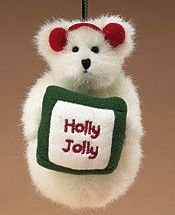 Boyds Holly Jolly Snow Bear Plush Ornament #562749 Retired