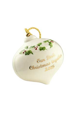 Belleek Our First Christmas Bauble 2015 Ornament