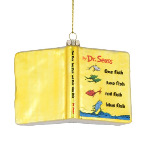 Department 56 Dr. Seuss Red Fish Blue Fish Book Ornament, 3-Inch