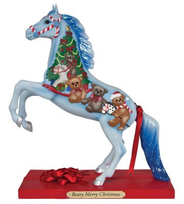 Enesco Trail of Painted Ponies Beary Merry Christmas Figurine, 8.25-Inch
