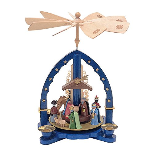 1603-Richard Glaesser Pyramid – Nativity Scene – 10.5″H X 9.25″W X 9.25″D