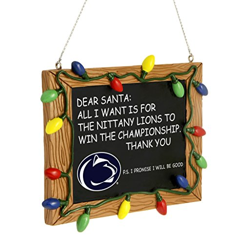 Penn State Nittany Lions Official NCAA 3 inch x 4 inch Chalkboard Sign Christmas Ornament by Forever Collectibles