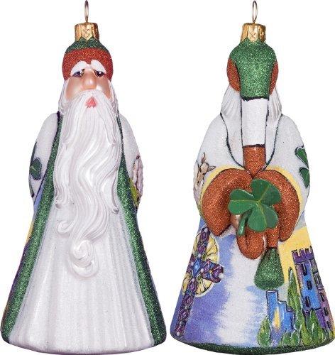Glitterazzi International Ireland Santa with Shamrock Ornament