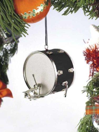 Music Treasures Co. Black Bass Drum Christmas Ornament