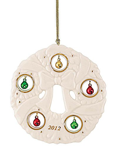 Lenox Christmas China Ornaments 2012 Jolly Jingle Wreath