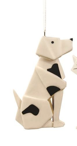 One Hundred 80 Degrees Origami Ornament, Choice of Cat or Dog (Dog)