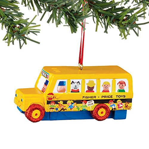Department 56 Fisher Price Little People Bus Ornament
