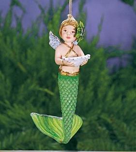Patience Brewster Krinkles Mer – Baby Mermaid Ornament 5.5″ 08-30833