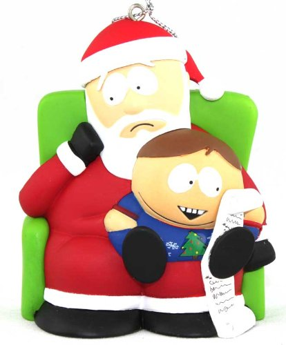 Carlton Heirloom 2011 South Park – Cartman on Santa's Lap – Magic Ornament #CXOR123Z