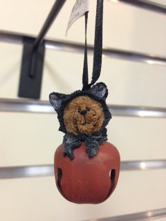 Bear Dressed As a Cat Jingle Ornament, Boyds Bears