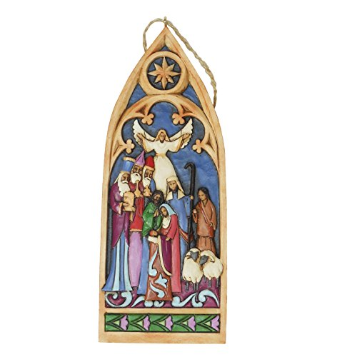 Enesco Jim Shore Heartwood Creek – Cathedral Window Nativity – 4044106 – New