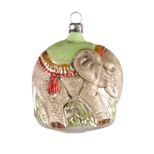 "Vintage mouthblown Christmas Glass ornament ""Elephant"" by MAROLIN® Germany"