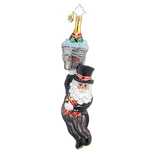 Christopher Radko Season Opener Dated 2016 New Year's Ornament