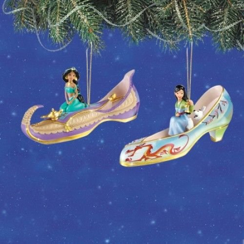 Disney Once Upon A Slipper Ornament #4 Bradford Exchange Ornament Set