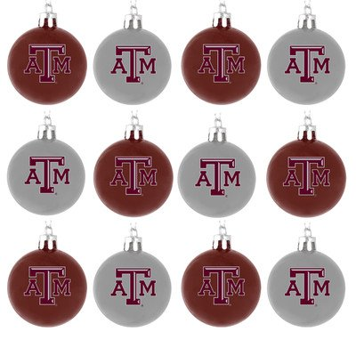 NCAA Ball Ornament (Set of 12) NCAA Team: Texas A&M