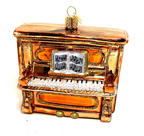Gold Upright Piano Ornament Once Piece