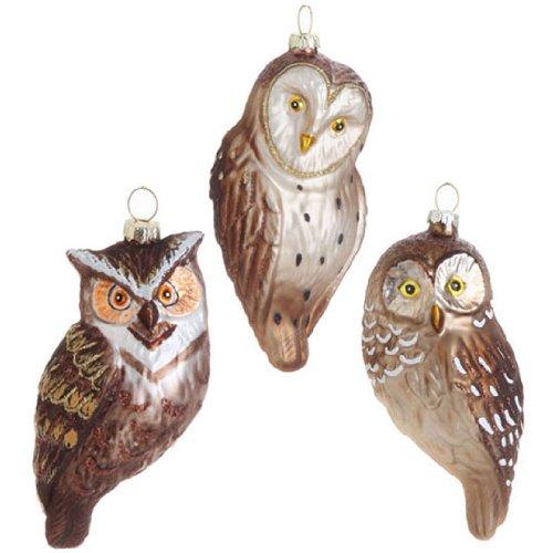 RAZ Imports – 5.5″ Owl Ornaments – Set of 3