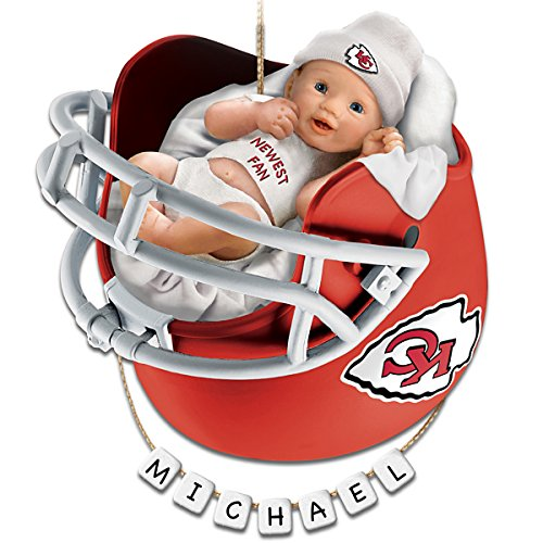 NFL Kansas City Chiefs Personalized Baby's First Christmas Ornament by The Bradford Exchange
