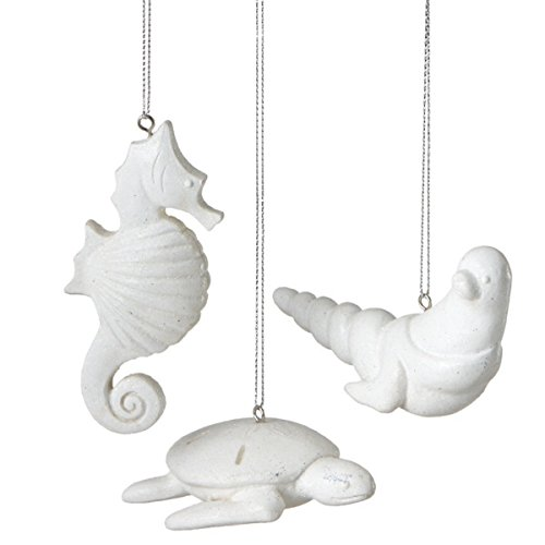 Sand Dollar Sea Animal Ornaments – Set of 3