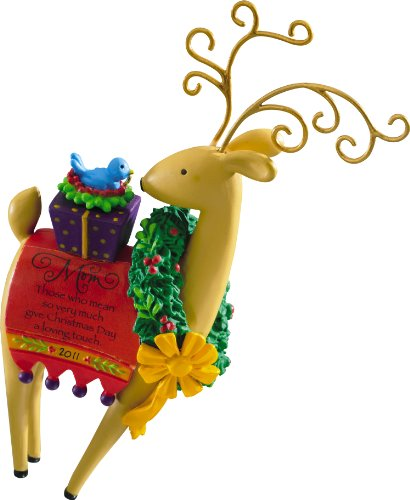 Carlton Heirloom 2011 Mom – Reindeer Ornament – #CXOR132Z