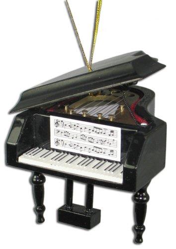 Miniature Grand Piano Christmas Ornament 2.75″ x 3.125″