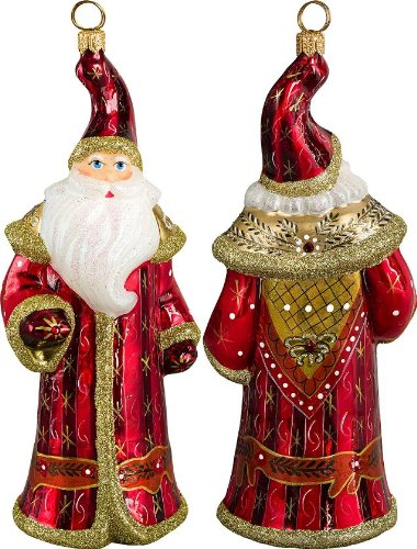 Glitterazzi Czech Inspired Santa Glass Christmas Ornament – New for 2013 – Joy to the World Collectibles