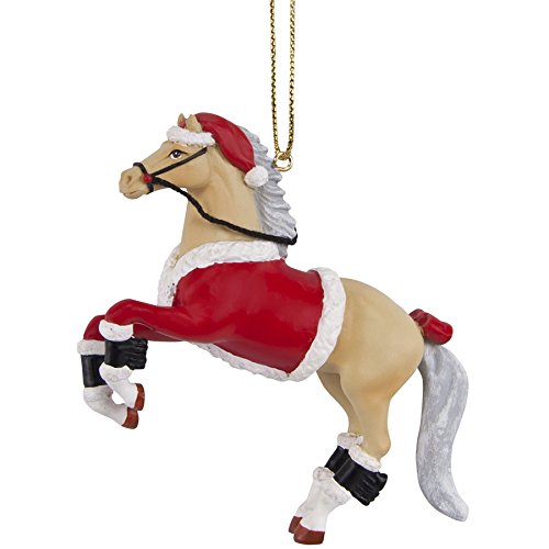 Trail of Painted Ponies Santa Pony Ornament 3.15 IN