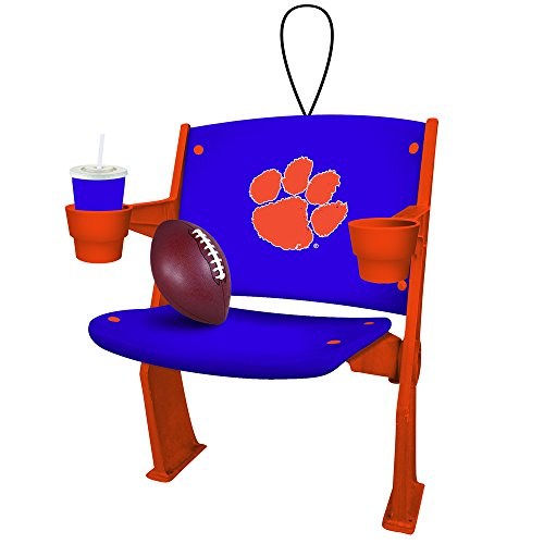 Clemson Tigers Official NCAA 4 inch x 3 inch Stadium Seat Ornament