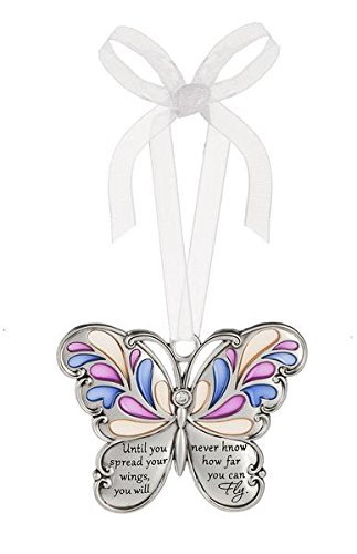 Ganz Butterfly Wishes Colored Ornament – Until you spread your wings, you will never know how far you can Fly