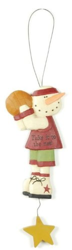 Take It To the Net Basketball Snowman Ornament