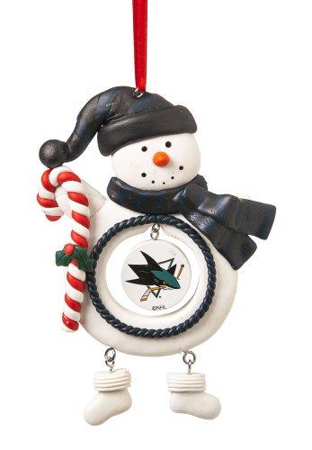 San Jose Sharks Jolly Snowman Christmas Ornament