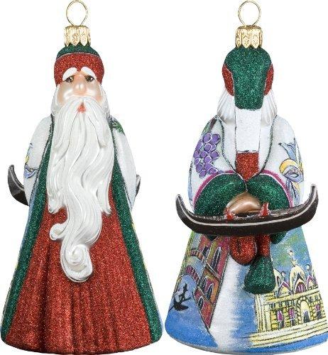 Glitterazzi International Santa Venetian Santa with Gondola Ornament