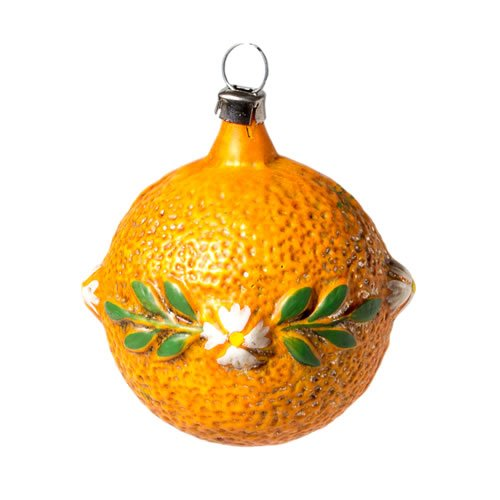 "Vintage mouthblown Christmas Glas ornament ""Orange"" by MAROLIN® Germany"