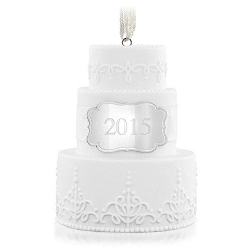 Hallmark QHX1167 Wedding Cake Dated 2015 Keepsake Ornament