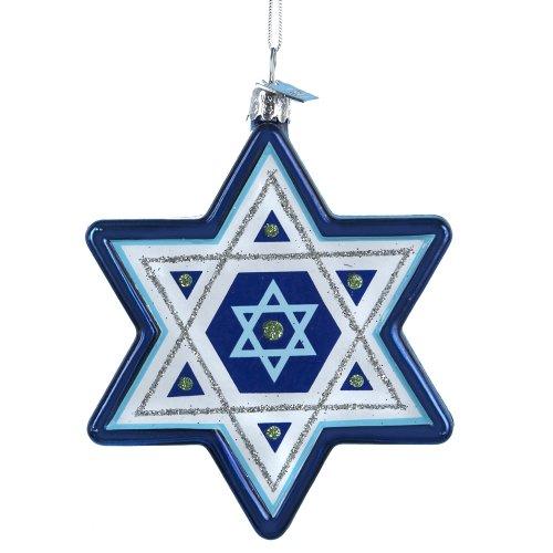 Kurt Adler Noble Gems Star of David Hanukkah Ornament, 3.25-Inch