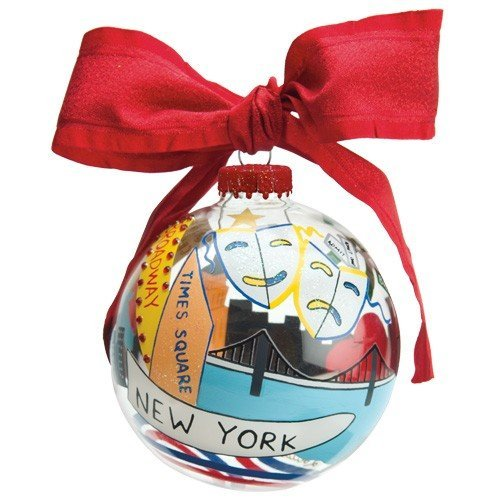 Santa Barbara Design Studio Lolita Holiday Moments Glass Ball Ornament, New York